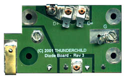 diode board all mechanical connections to the board are rivetted and ered the diode module itself contains its own integrated aluminum heat sink